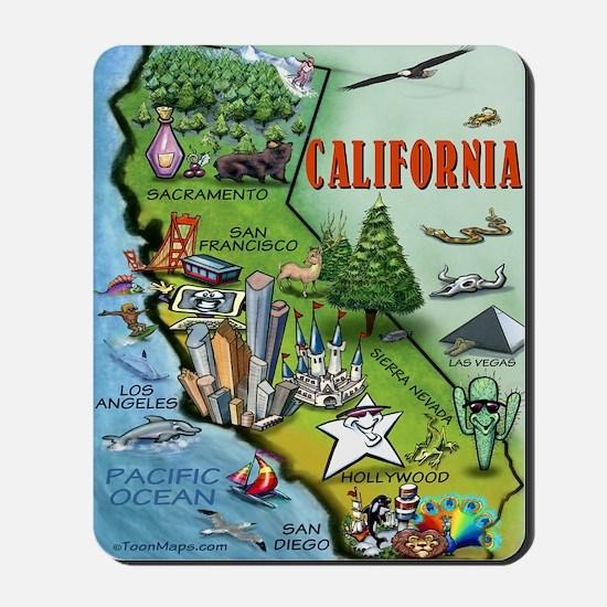 California Map Blanket Mousepad
