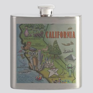 California Map Blanket Flask