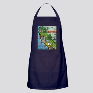 California Map Blanket Apron (dark)