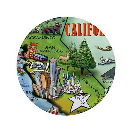 "California Map Blanket 3.5"" Button"
