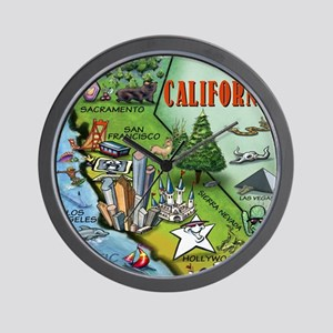 California Map Blanket Wall Clock