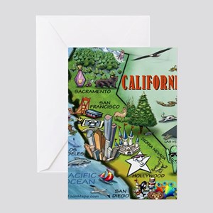 California Map Blanket Greeting Card