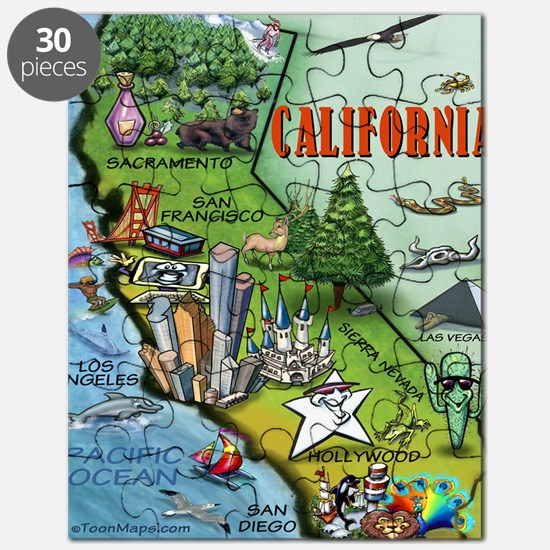 California Map Blanket Puzzle