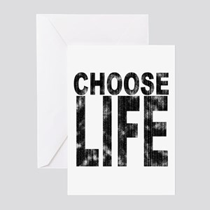 Choose Life Distressed Greeting Cards (Package of