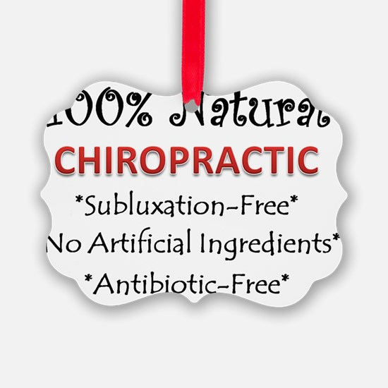 natural chiropractic Ornament
