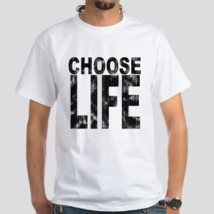 Choose Life Distressed White T-Shirt