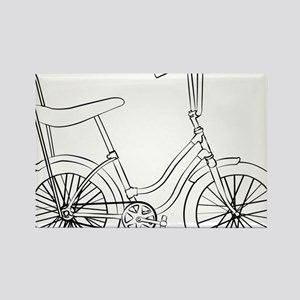 OldSchool bicycle Rectangle Magnet