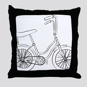 OldSchool bicycle Throw Pillow