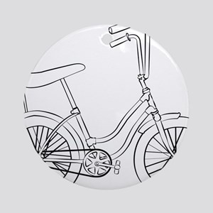 OldSchool bicycle Round Ornament