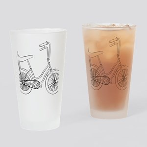 OldSchool bicycle Drinking Glass