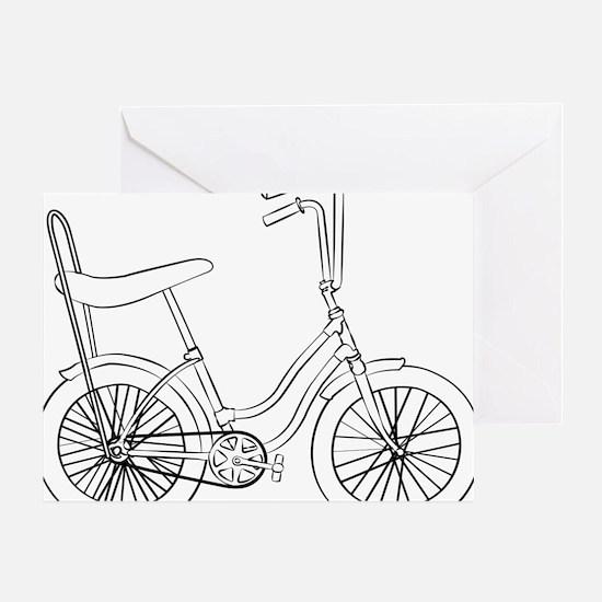 OldSchool bicycle Greeting Card