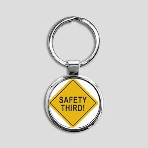 Safety_Third Round Keychain