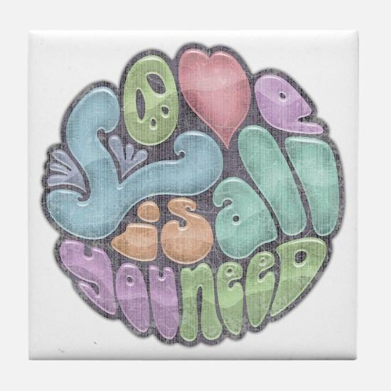 love-need-rnd-BW-LTT Tile Coaster