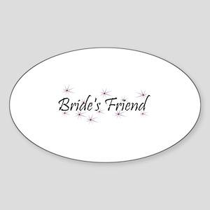 Bride's Friend - Purple Haze Oval Sticker