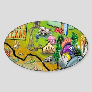 Corpus Christi TEXAS Map Blanket Sticker (Oval)