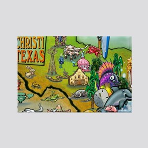 Corpus Christi TEXAS Map Blanket Rectangle Magnet
