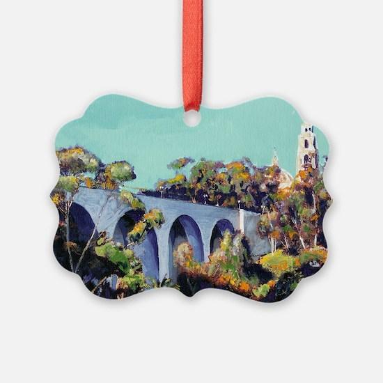 Cabrillo Bridge Balboa Park RD Ri Ornament