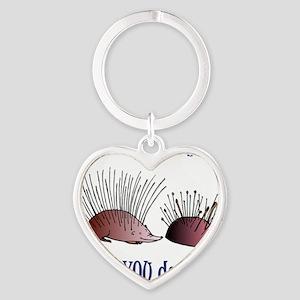 funny001 Heart Keychain