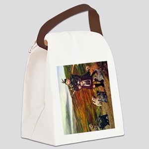 helfcoloursideways Canvas Lunch Bag