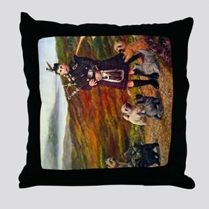 helfcoloursideways Throw Pillow