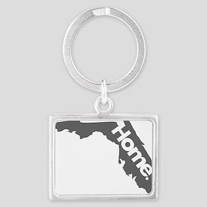 Florida-Home---Gray Landscape Keychain