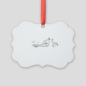 future biker black Picture Ornament