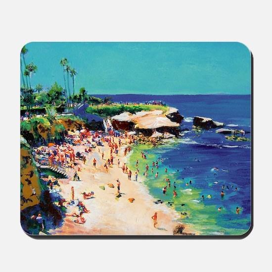 La Jolla Cove painting by RD Riccoboni Mousepad