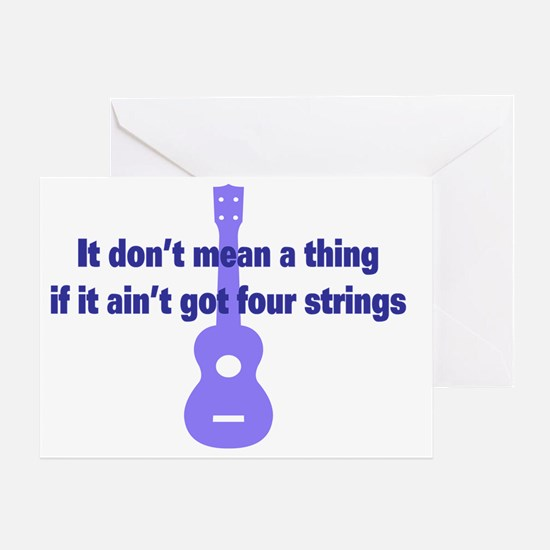 It Dont Mean A Thing if it Aint Got  Greeting Card