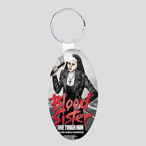 Blood Sister revised Aluminum Oval Keychain