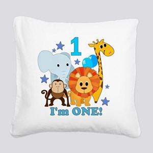 baby1JungleAnimals Square Canvas Pillow