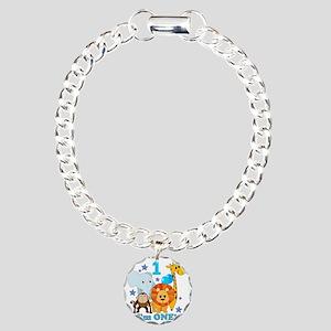 baby1JungleAnimals Charm Bracelet, One Charm