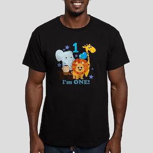 baby1JungleAnimals Men's Fitted T-Shirt (dark)
