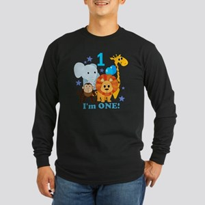 baby1JungleAnimals Long Sleeve Dark T-Shirt
