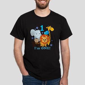 baby1JungleAnimals Dark T-Shirt