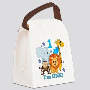 baby1JungleAnimals Canvas Lunch Bag