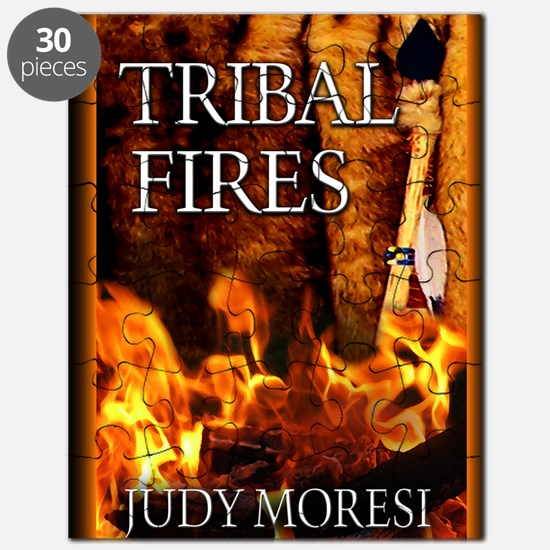 Tribal Fires greeting card Puzzle