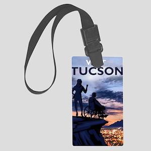 Visit Tucson poster Large Luggage Tag