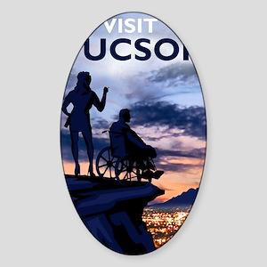 Visit Tucson poster Sticker (Oval)
