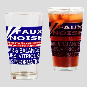 Faux Noise Lies - Vitriol T shirt Drinking Glass