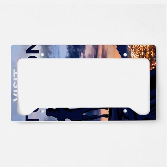 Visit Tucson postcards License Plate Holder