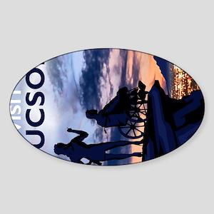 Visit Tucson postcards Sticker (Oval)