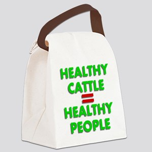 Healthy Cattle Healthy People Canvas Lunch Bag