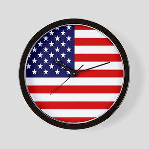 American USA Flag Wall Clock