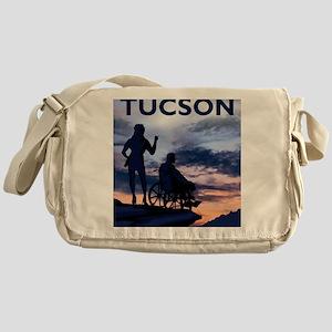 Visit Tucson framed print Messenger Bag