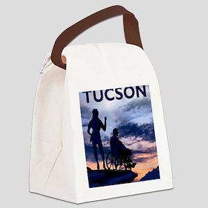 Visit Tucson framed print Canvas Lunch Bag