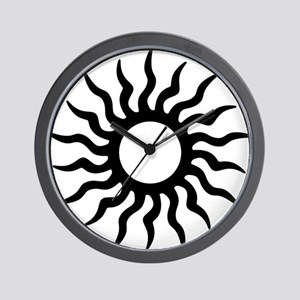 Tribal Sun Icon Wall Clock