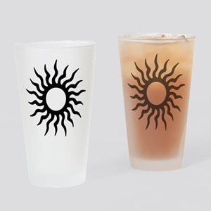 Tribal Sun Icon Drinking Glass