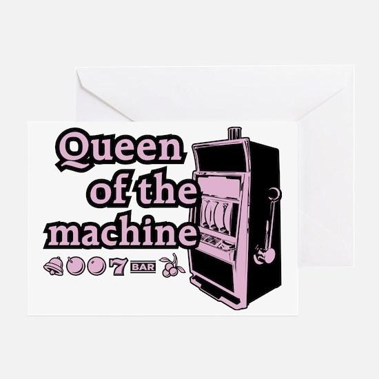 queenSlotB Greeting Card