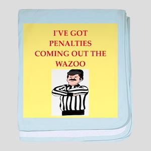 referee baby blanket