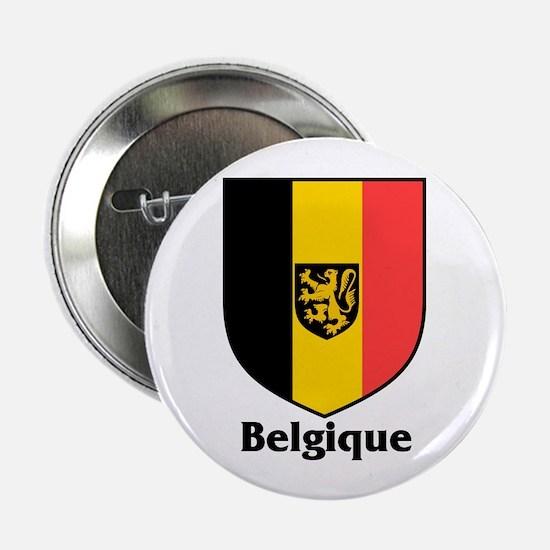 """Belgique / Belgium Shield 2.25"""" Button (10 pack)"""